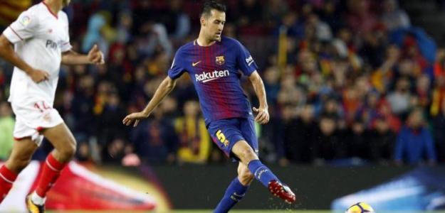 Busquets, durante un partido de Liga (FC Barcelona)