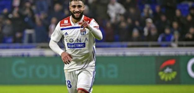 Fekir durante un partido con el Lyon / Youtube