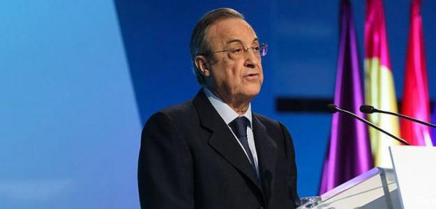 Florentino Pérez en una asamblea del Real Madrid / Foto: Real Madrid