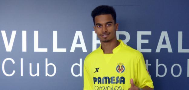Akram Afif, durante su presentación con el Villarreal / Villarreal CF.