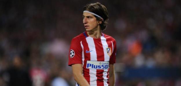 Filipe Luis con la camiseta del Atlético. Foto: Cadenaser.com