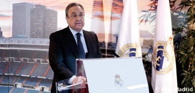 Florentino Pérez, en un acto del club / Real Madrid.