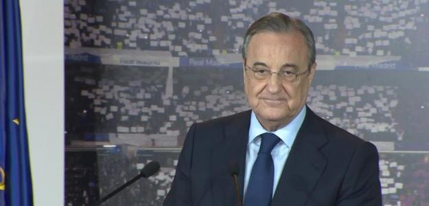 Florentino Pérez en una comparecencia ante los medios de comunicación. Foto: RealMadrid.com