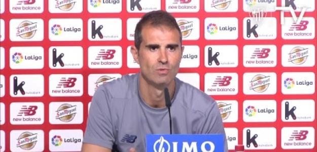 Gaizka Garitano en rueda de prensa como técnico del Athletic. Foto: Youtube.com