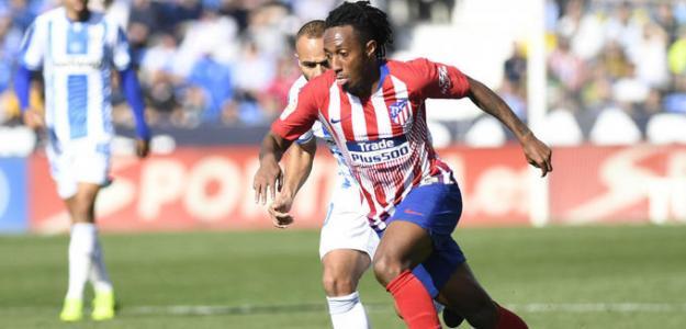 Gélson Martins, durante el Atlético-Leganés (LaLiga)