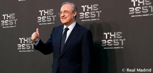 Florentino, en la gala 'The Best' (Real Madrid)