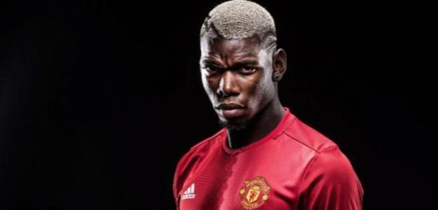 Pogba, el día de su fichaje (Manchester United)