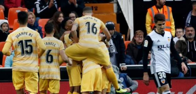 Girona, celebrando un gol / twitter