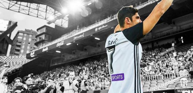Guedes, el día de su fichaje (Valencia CF)