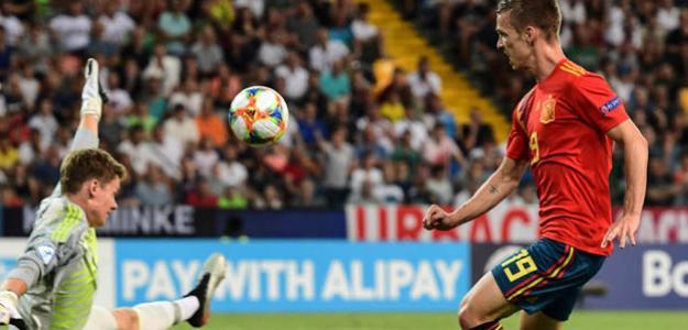 Dani Olmo en un partido del Europeo sub-21. / rtve.es