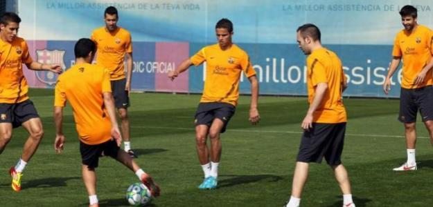 Ibrahim Afellay entrenando con el Barcelona. Foto: FCBarcelona.es