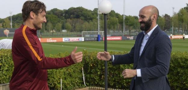 Totti y Monchi (AS Roma)