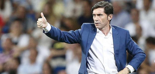 Marcelino en un partido / Valencia