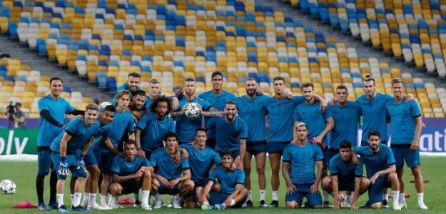 Real Madrid, en un entrenamiento / Twitter