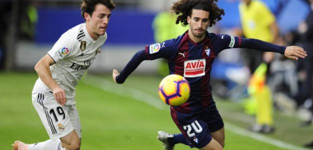 Cucurella, contra el Real Madrid / twitter