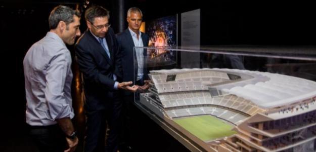 Valverde y Bartomeu (FC Barcelona)