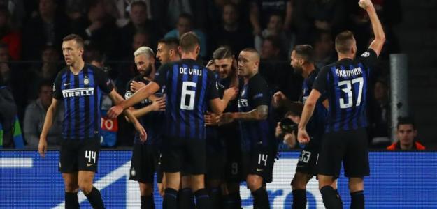 Jugadores del Inter de Milán celebran un gol / UEFA