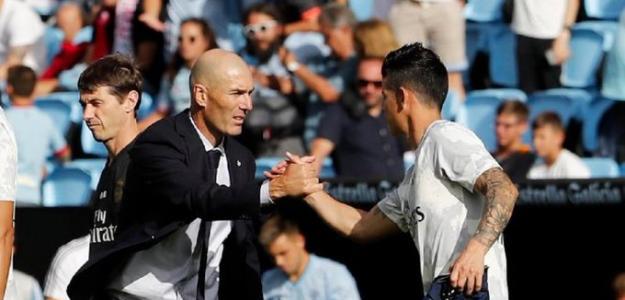 El cambio radical de Zidane y James Rodríguez