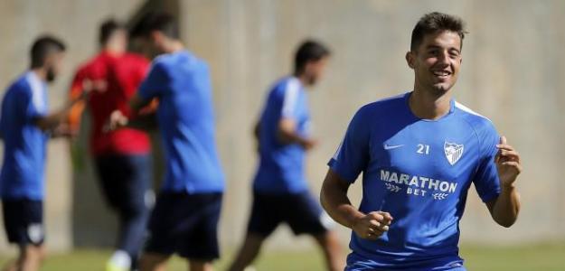 Jony en un entrenamiento / Málaga