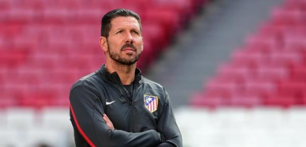 Diego Simeone en un entrenamiento / Atlético
