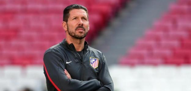 Diego Pablo Simeone durante un entrenamiento / Atlético