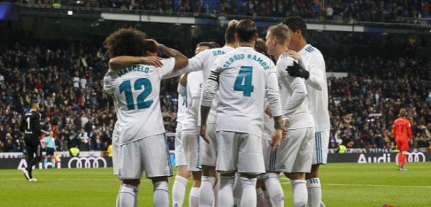 Jugadores del Real Madrid celebrando un gol. Foto: LaLiga.es