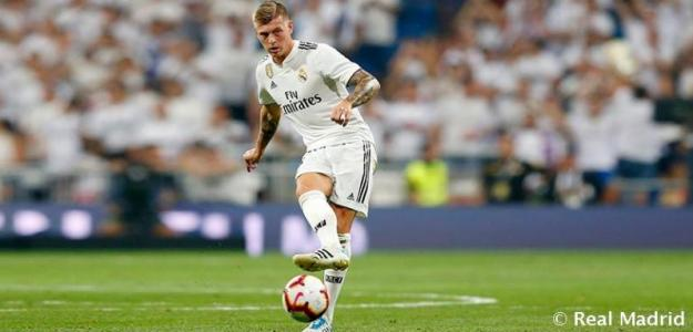 Kroos, durante un partido (Real Madrid)