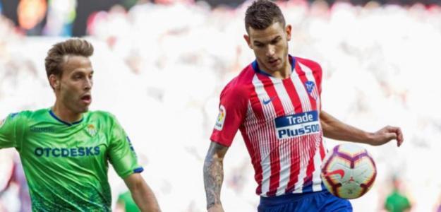 Canales y Lucas, durante un Betis-Atlético (EFE)