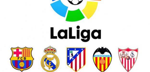 Logotipo de LaLiga con el escudo de algunos equipos / Nurupo NET