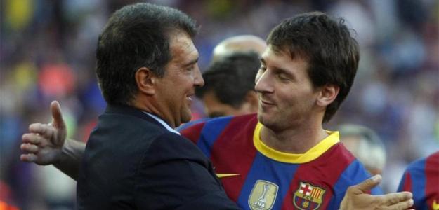 La 'promesa' que le ha hecho Laporta a Messi. Foto: sport.es
