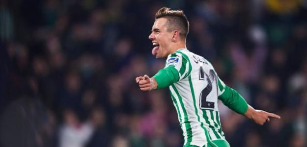 Lo Celso celebra un gol con el Real Betis / Youtube