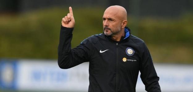 Luciano Spalletti, en un entrenamiento con el Inter / Youtube.com