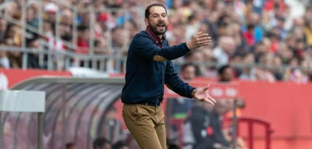 Machín, durante un partido (Sevilla FC)