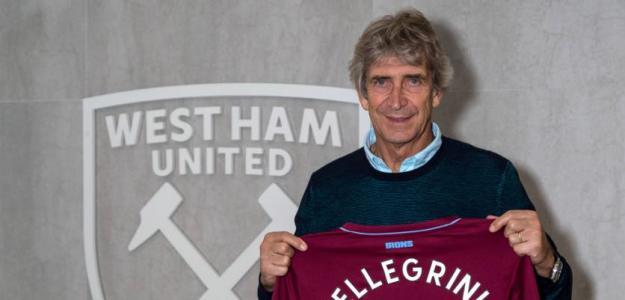 Manuel Pellegrini en su presentación con el West Ham. Foto: WHUFC.com