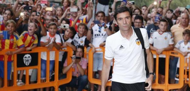 Marcelino en una concentración / Valencia