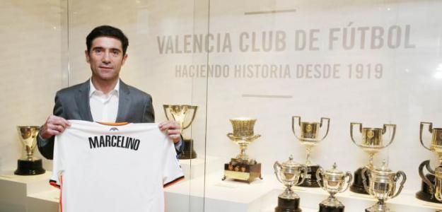 Marcelino García Toral durante un encuentro de Liga. Foto: Valenciacf.com