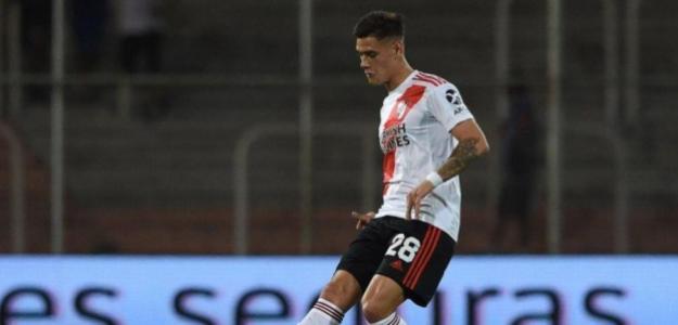 Martínez Quarta durante un partido. / bolavip.com