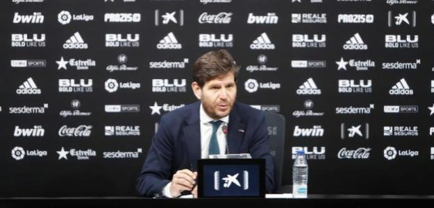 Mateu Alemany en rueda de prensa. Foto: Valenciacf.com