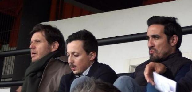 Mateu Alemany, Pablo Longoria y Vicente Rodríguez. Foto: Deportevalenciano