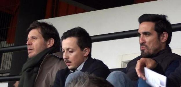 Mateu Alemany junto Pablo Longoria y Vicente Rodríguez. Foto: Deportevalencia.com