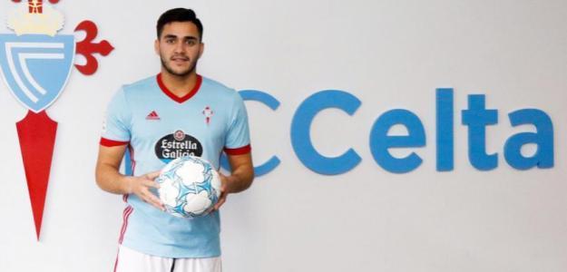 Maxi Gómez, en su presentación con el Celta / RC Celta de Vigo.