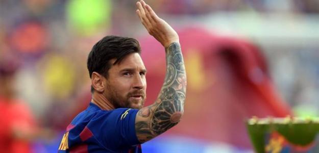 Messi en la presentación del Barça / mediotiempo.com