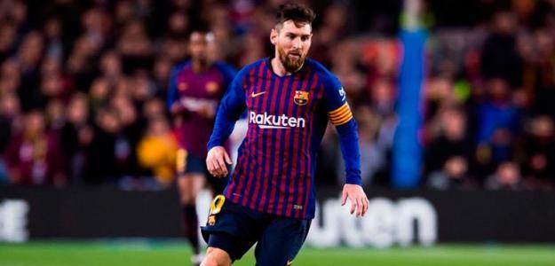 Messi en un partido / Barça