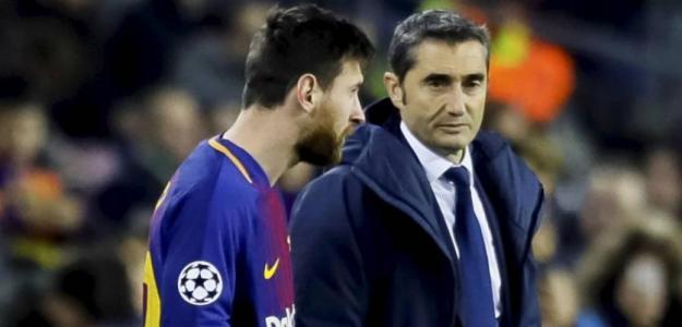 Crispación en el vestuario del Barça, Messi se cansa de Valverde. Foto: AP