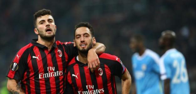 Jugadores del AC Milan en un partido / Youtube