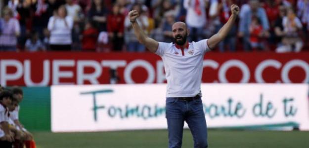 Monchi en su despedida con el Sevilla FC / LaLiga