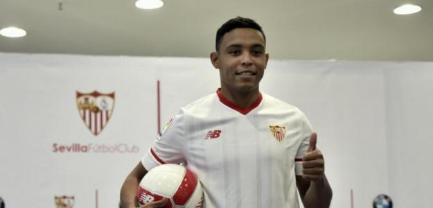 Luis Muriel, en su presentación con el Sevilla FC / twitter.