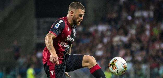Nahitán en un partido con el Cagliari. / futbol.com.uy