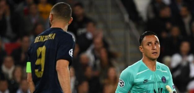 Navas en el partido ante el Madrid. / nacion.com