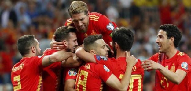 """El once que podría presentar España en la Eurocopa 2020 """"Foto: MARCA"""""""